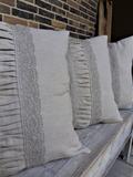 dekorační polštář, ozdobný polštář, originální polštář, lněný polštář, krajkový polštář