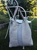 lněná taška, lněná kabelka, stylová taška, plátěná taška, letní taška