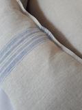Lněný povlak na polštář Blue Stripes