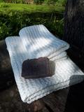 Lněná osuška a ručník Natural White