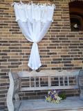 záclona, romantická záclona, lněná záclona