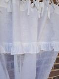 Lněná záclona Romantic White