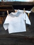 košilka, novorozenecká košilka, kojenecká košilka, lněná košilka