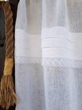 lněná záclona, romantická záclona, záclona, bílá záclona, záclona s krajkou