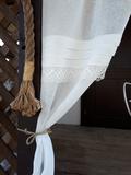lněná záclona, záclona, smetanová záclona, záclona do ložnice, přírodní záclona