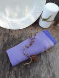 Lněný ubrousek fialový