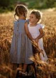 Dětské lněné šaty Amélia
