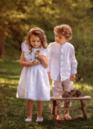 Dětské lněné šaty