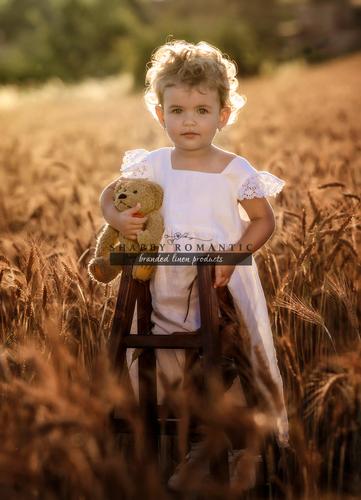 Dětské lněné šaty Liliana