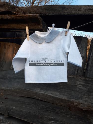 Lněná košilka Blue