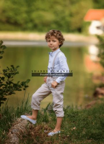 Lněné kalhoty pro kluky