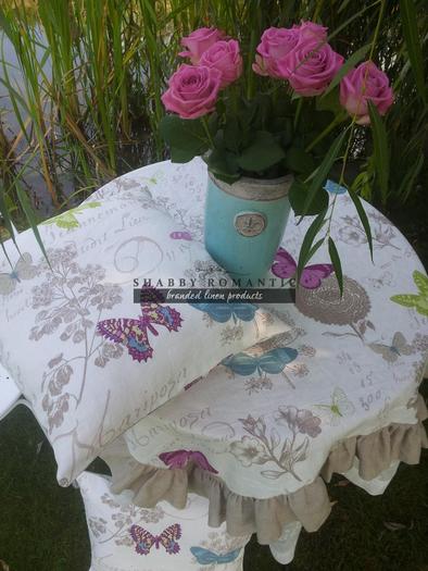 Lněný povlak na polštář Butterfly