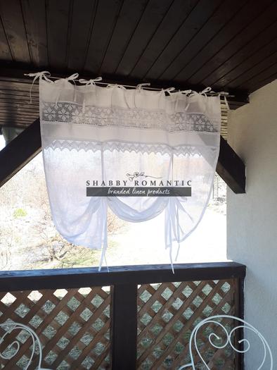 Lněná záclonka Charming Cottage
