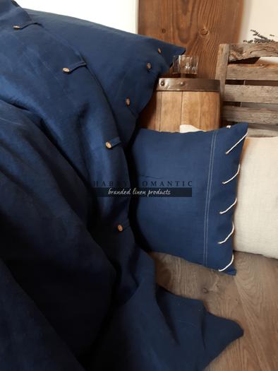 Lněné povlečení Perfect Look Marine Blue