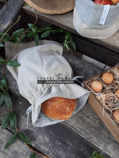 Lněný pytlík na chléb Linen Memories